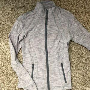 Light grey& white, define jacket from Lululemon !